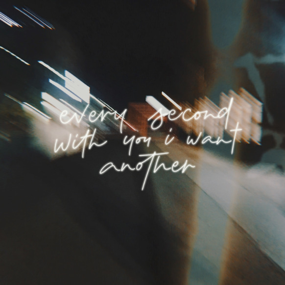 Every second with you I want another - Lauv's lyrics, digital lettering by frayart