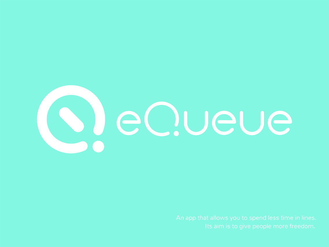 Queue - an app that allows you to spend less time in lines. Brand identity design by Margarita Fray.