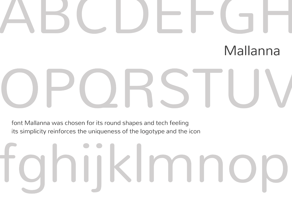 Font Malanna for eQueue brand identity