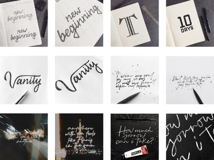 100 days of lettering compilation by frayart