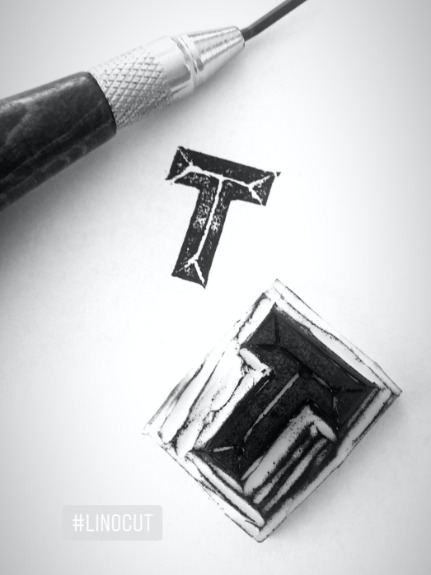 Letter T -  rubber stamp by frayart