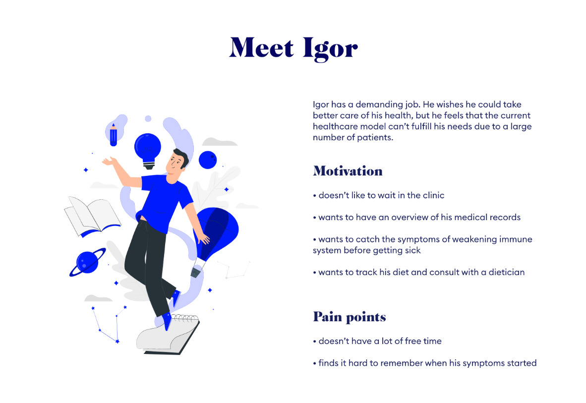 User persona design by Margarita Fray